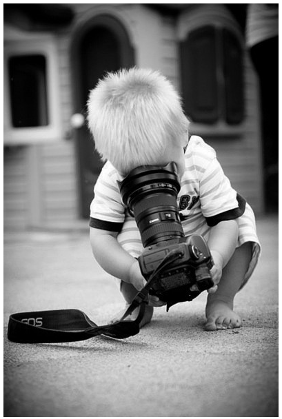 Kid Photography - photo op! I should do this with Kaden since he thinks he's a photographer.