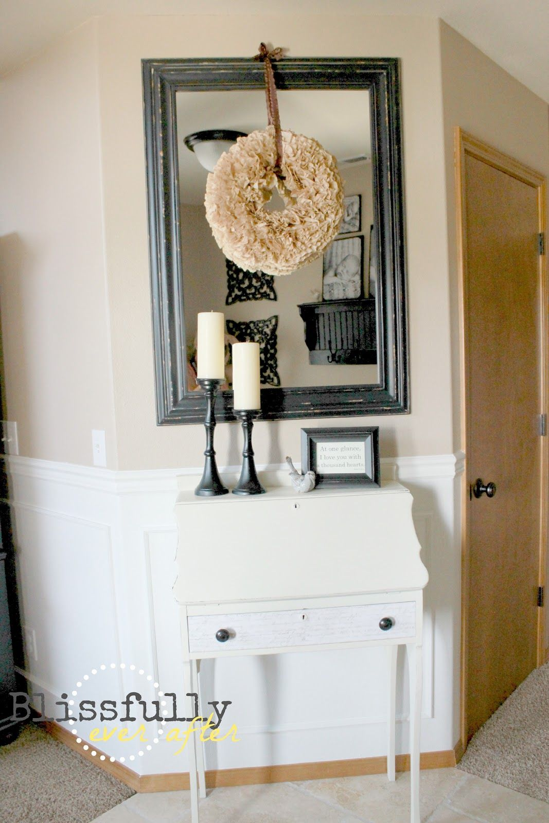 Blissfully ever after how to paint a door without brush