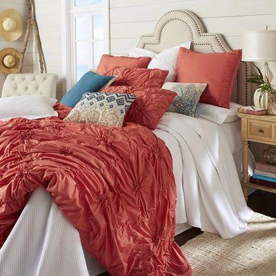 Savannah Duvet Cover Sham Coral Duvet Covers Beautiful Duvet Cover Ruched Bedding