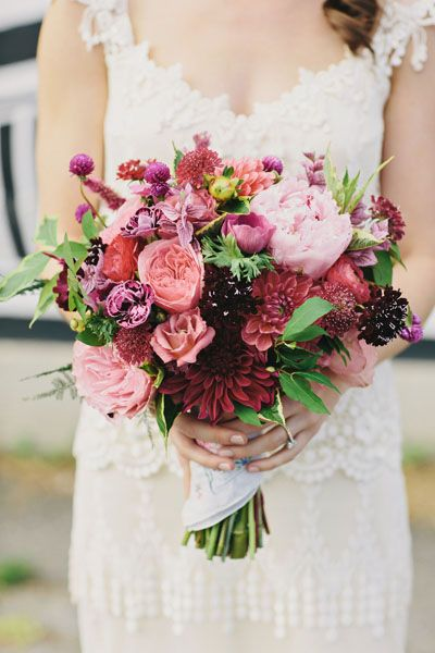 LOVE the color scheme and variety. Sprout Brooklyn. A little too big for my bouquet