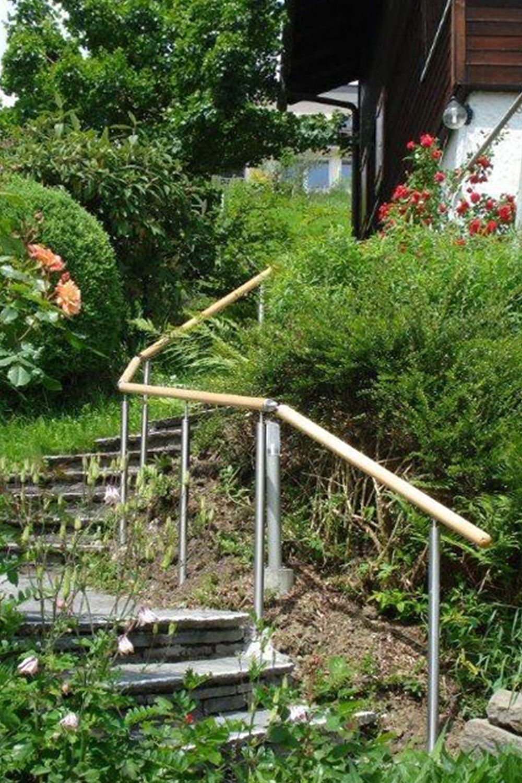 Gelander Holz Aussentreppe Handlauf Aussentreppe Treppengelander Aussen