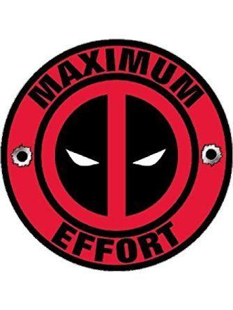 f7594970cc39 Deadpool Decal Maximum Effort Vinyl Sticker ❤ AJ's Signs & Apparel ...