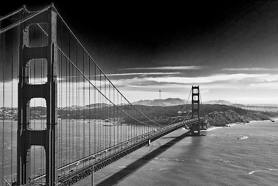 Golden Gate Bridge Black And White Portfolio