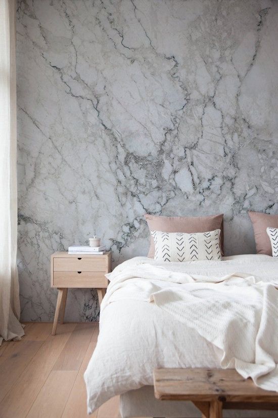 Home Decorating Ideas Bedroom The David Marble Wallpaper Sefl