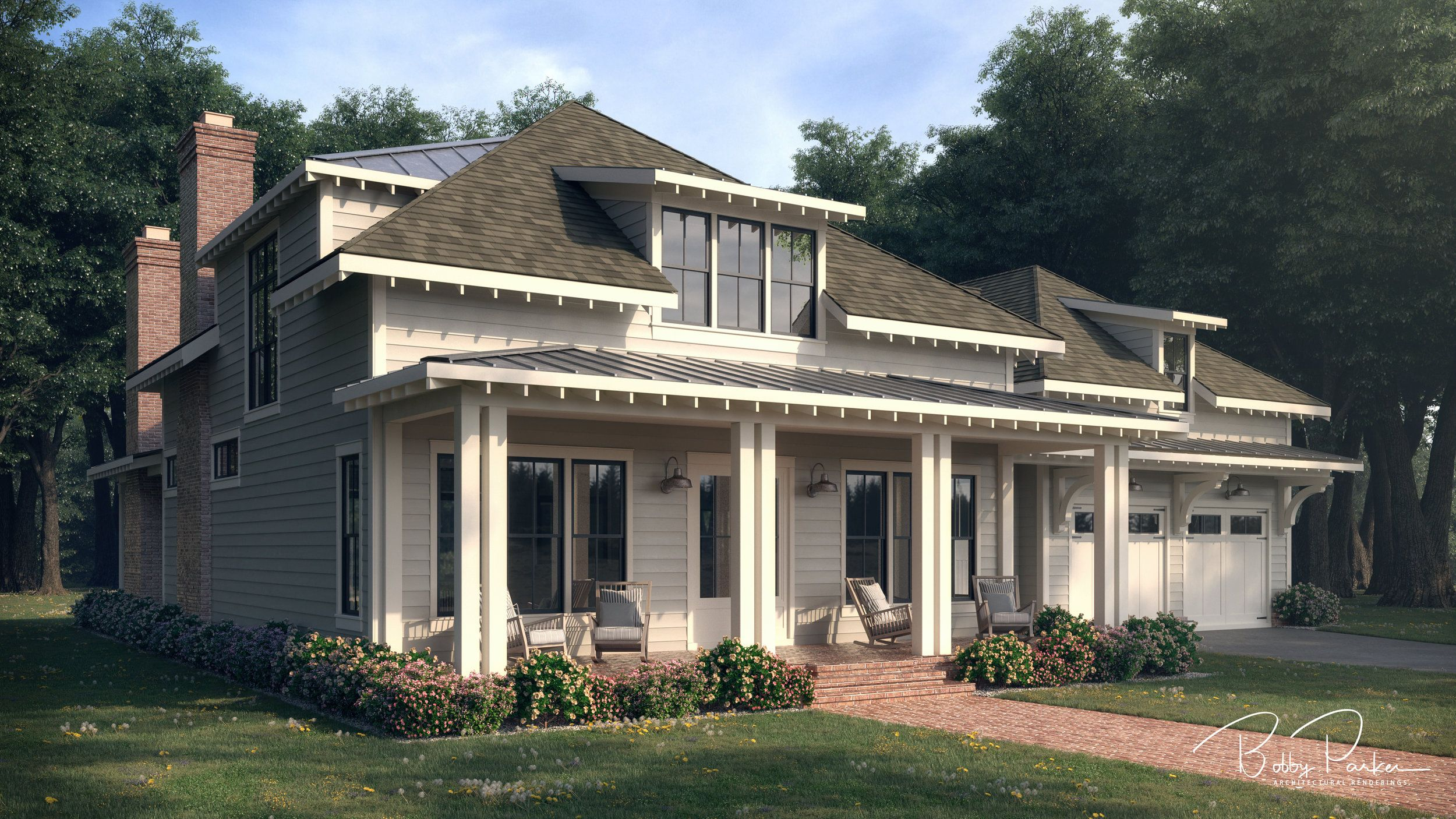 Summertime Low Country Rendering Bobby Parker Southern Living House Plans Low Country Homes House Plans