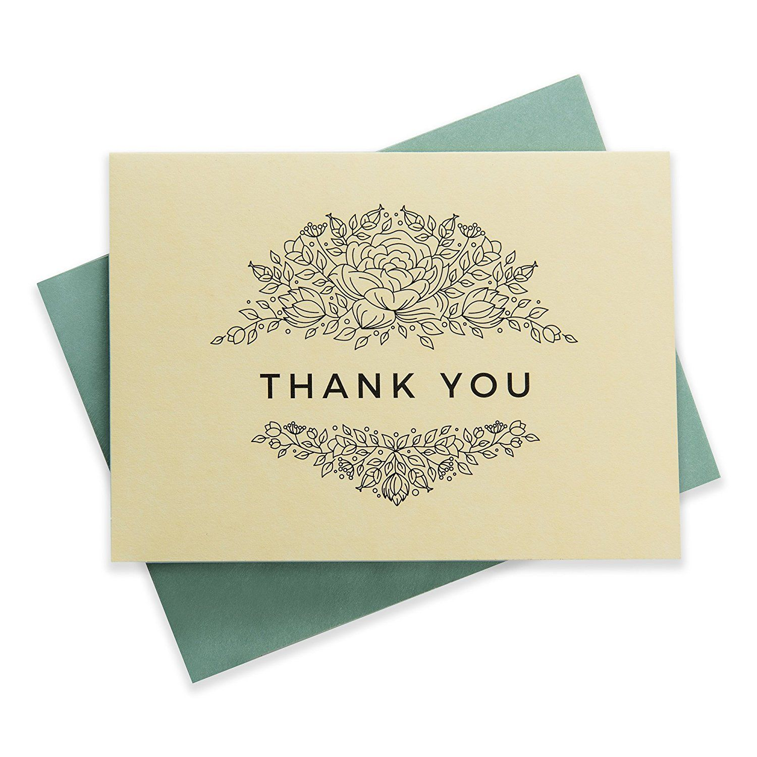 Fl Thank You Cards Bulk Box Set Of 48 Blank With
