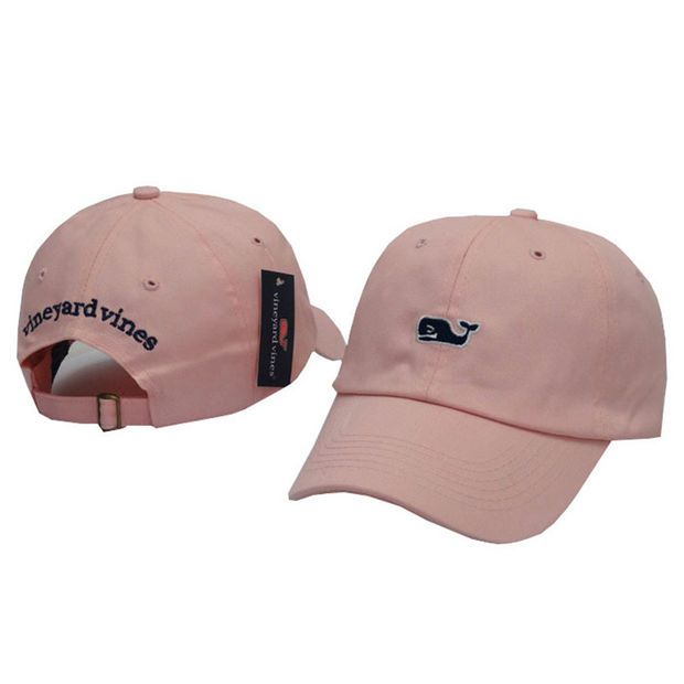 00de5e04e43 Whale Embroidered Pink Strapback Golf Casquette Southern Tide Fish Dad Baseball  Cap Men Summer Hat Baseball Women Dolphin Cap