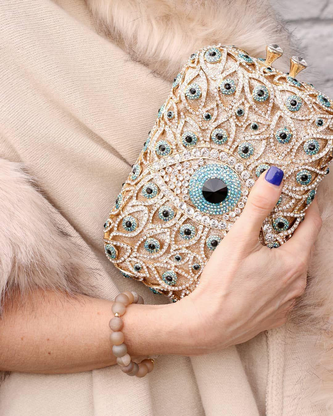 Swarovski Crystal Clutch Bag Evening Bags 336 Crystalclutch