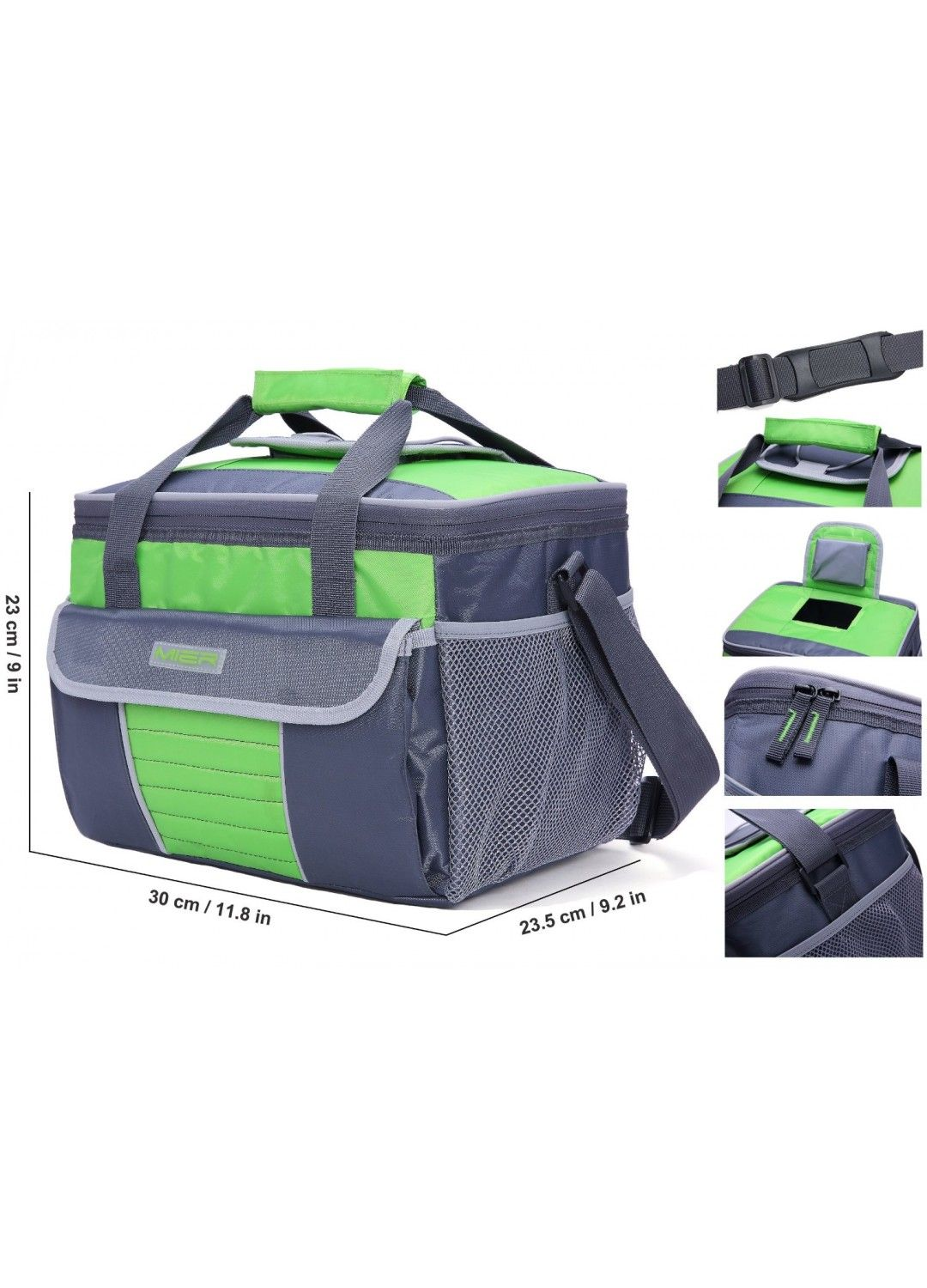 Mier Large Soft Cooler Bag Insulated Lunch Box Bag Picnic Cooler Tote With Dispensing Lid Multiple Pockets Cooler Bag Lunch Box Bag Cooler Tote
