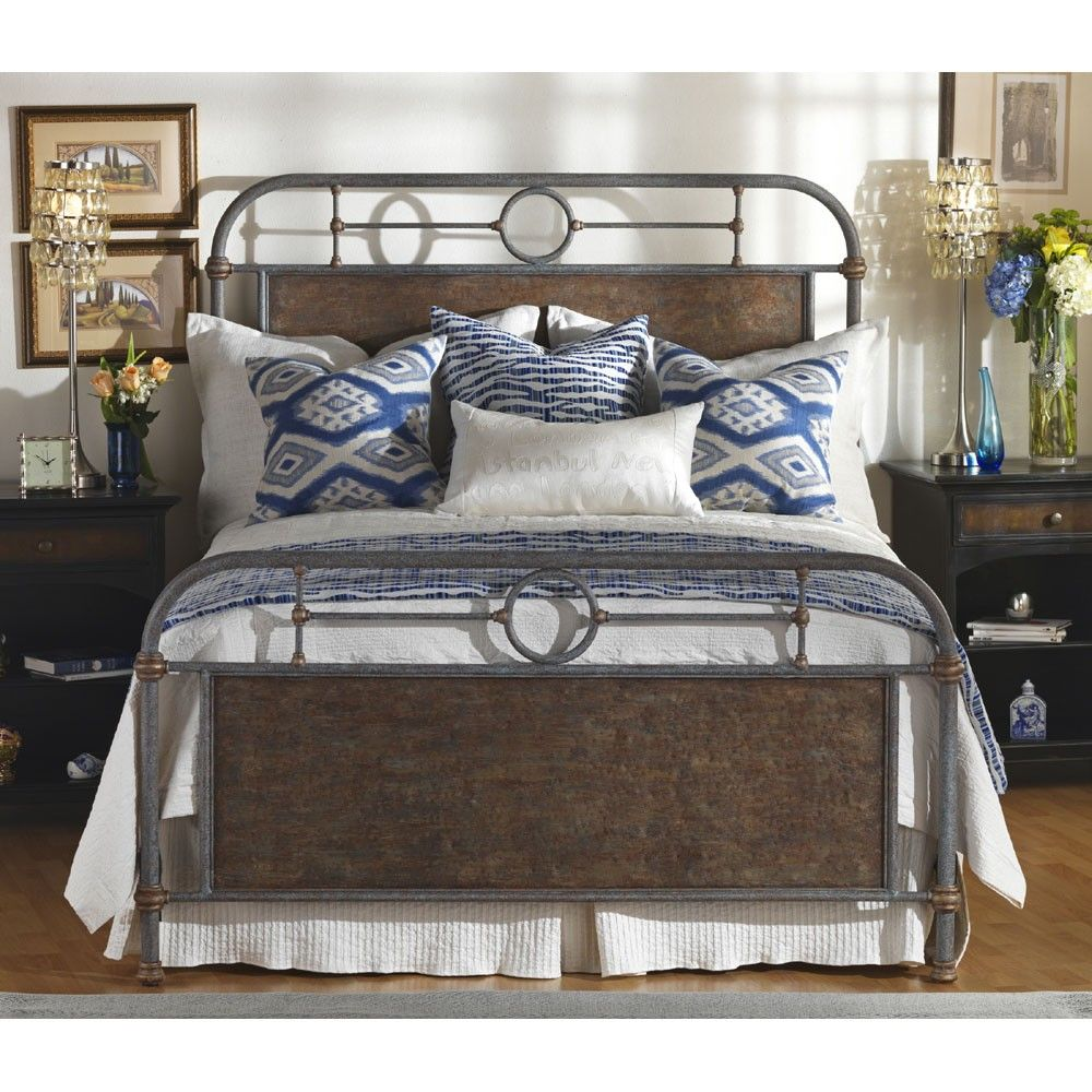 Wesley Allen Danville Queen Bed Iron furniture