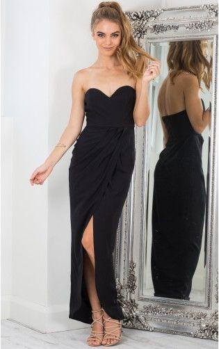 f13424077f Sweet Fantasy maxi dress in black Ball Dresses