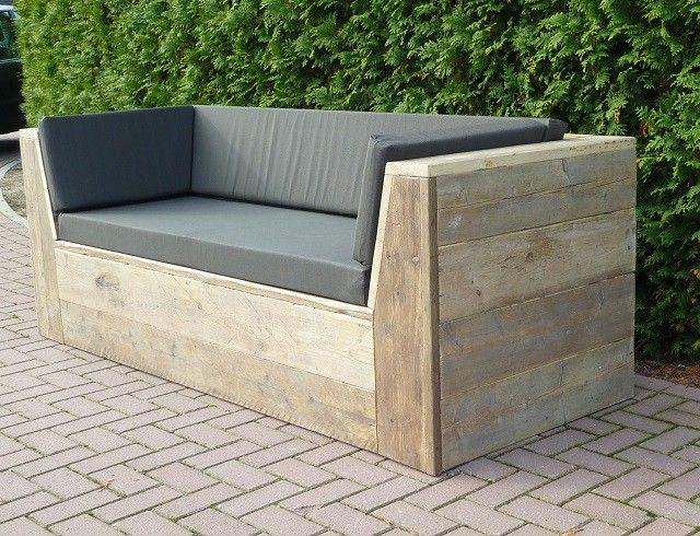 loungebank steigerhout winterswijk home pinterest