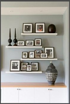 Ikea Floating Shelves And Some Frames With Great Photos Ta Da