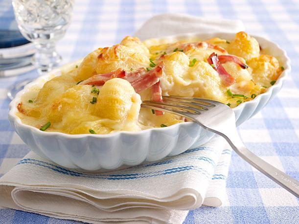 Schnelle Gnocchi mit Käse und gekochtem Schinken Rezept  | LECKER