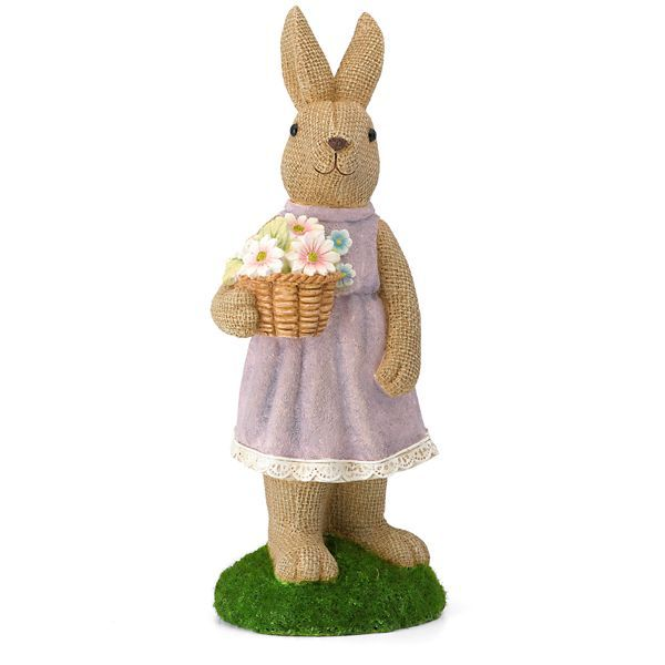 Spring Bunny Lass Figurine By Lenox ** Dressed in her Sunday best and holding a flowering plant, the Spring Bunny Lass Figurine is ready for the new season. Painted entirely by hand, this lovely lady bunny makes a fun springtime gift.