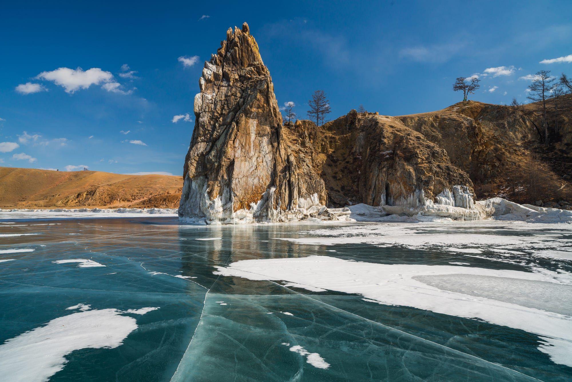 Baikal Lake, Russia. March 2015.