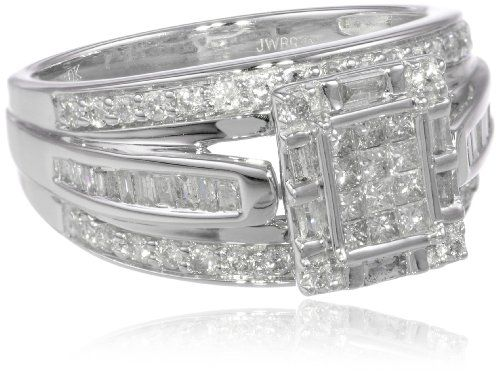 Your #1 Source for Jewelry and Accessories » 10k White Gold Diamond Ring (1 cttw, I-J Color, I2-I3 Clarity), Size 8