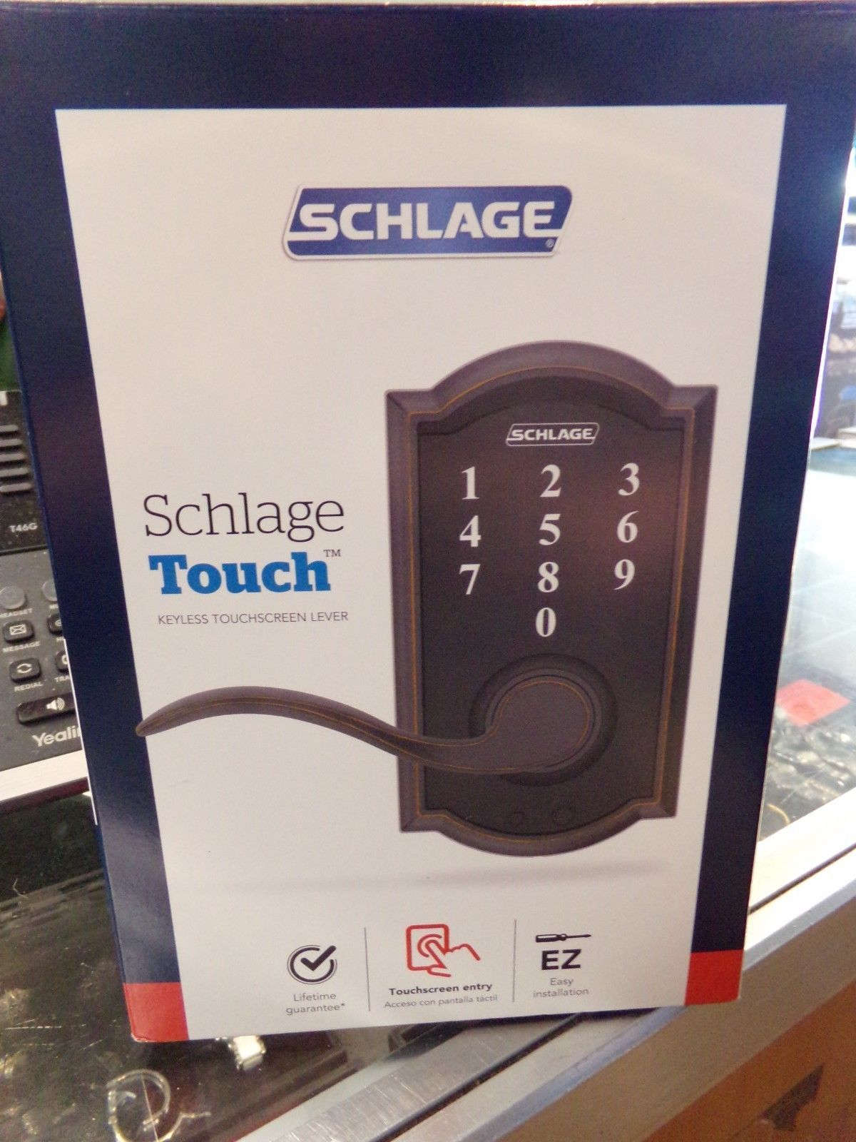 Door Locks And Lock Mechanisms 180966 Schlage Touch Keyless Touchscreen Lever Fe695 V Cam 716 Acc Aged Bronze New Door Locks Lock N Lock Keyless Door Lock