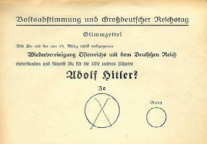 Image result for 1938 referendum austria
