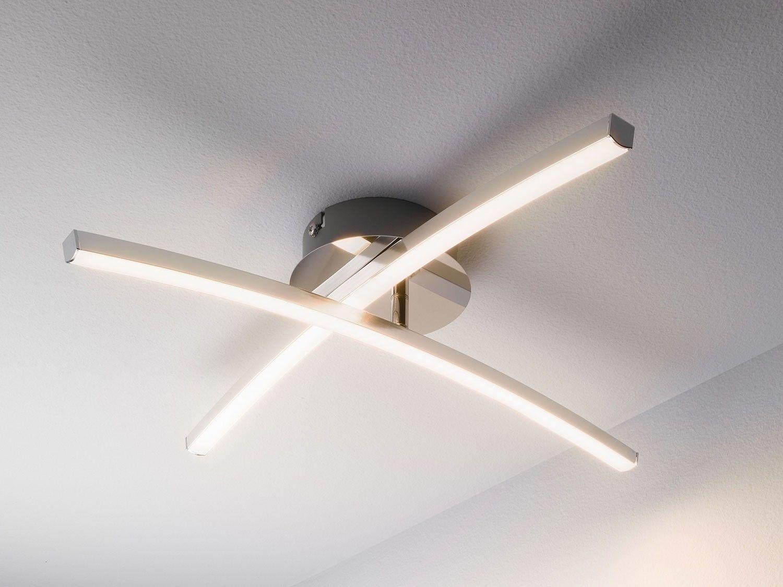 Wohnzimmer Deckenleuchte ~ Led deckenleuchte deckenlampe flur wohnzimmer flammig metall