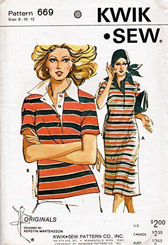 Kwik Sew 669 Misses Short Sleeve Dress or Top Vintage Sew... https://www.amazon.com/dp/B01DIF3WVC/ref=cm_sw_r_pi_dp_x_aCXXyb002G7RD