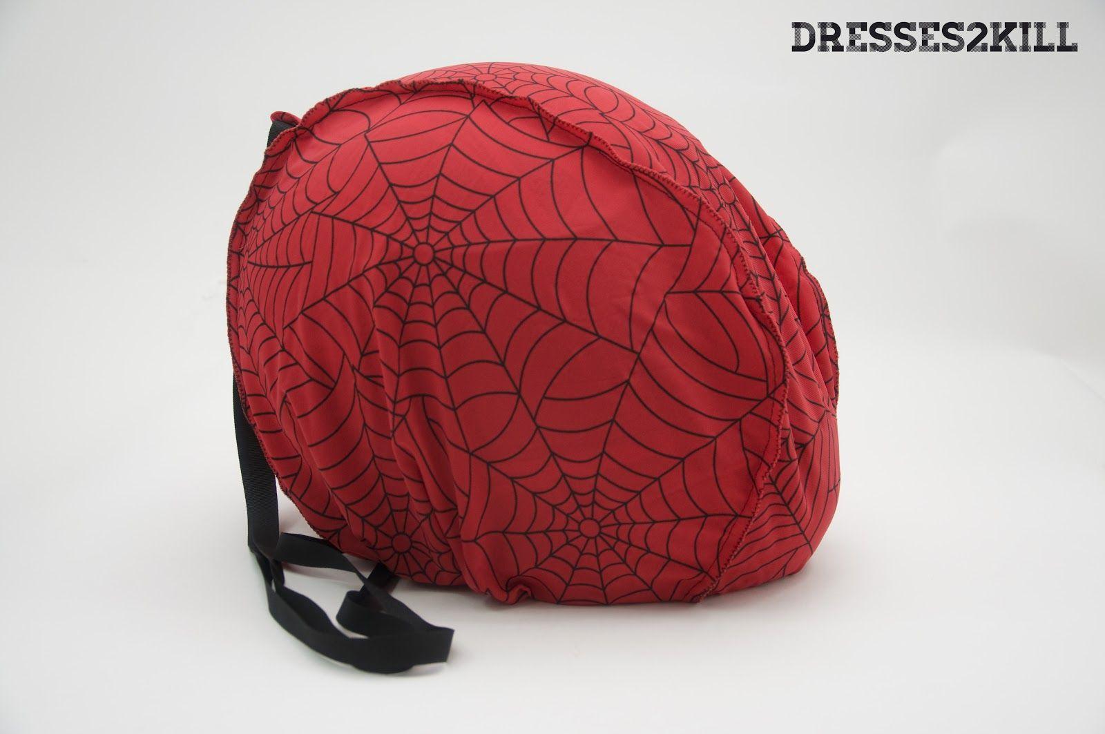 Funda Casco Spider * Spider Helmet Bag  www.dresses2kill.com  Dresses2Kill - Handmade Clothing