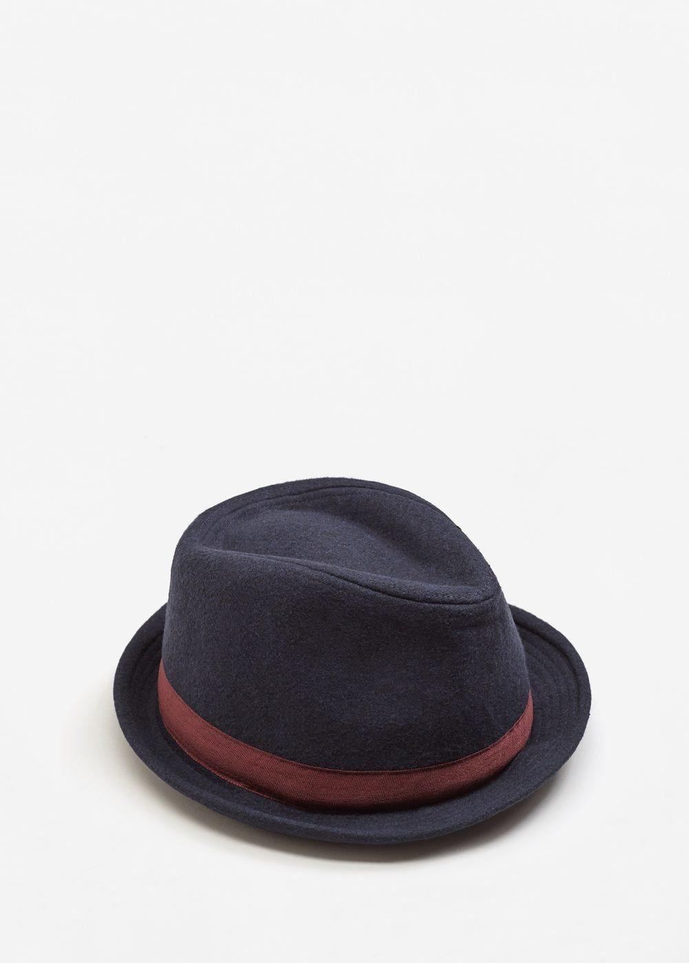 04f435768765 Sombrero fedora cinta contraste - Hombre | Chapeau | Sombreros ...