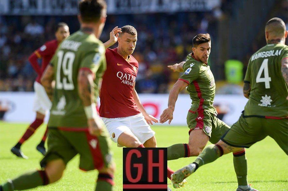Roma 1 1 Cagliari Cagliari Roma Football Highlight