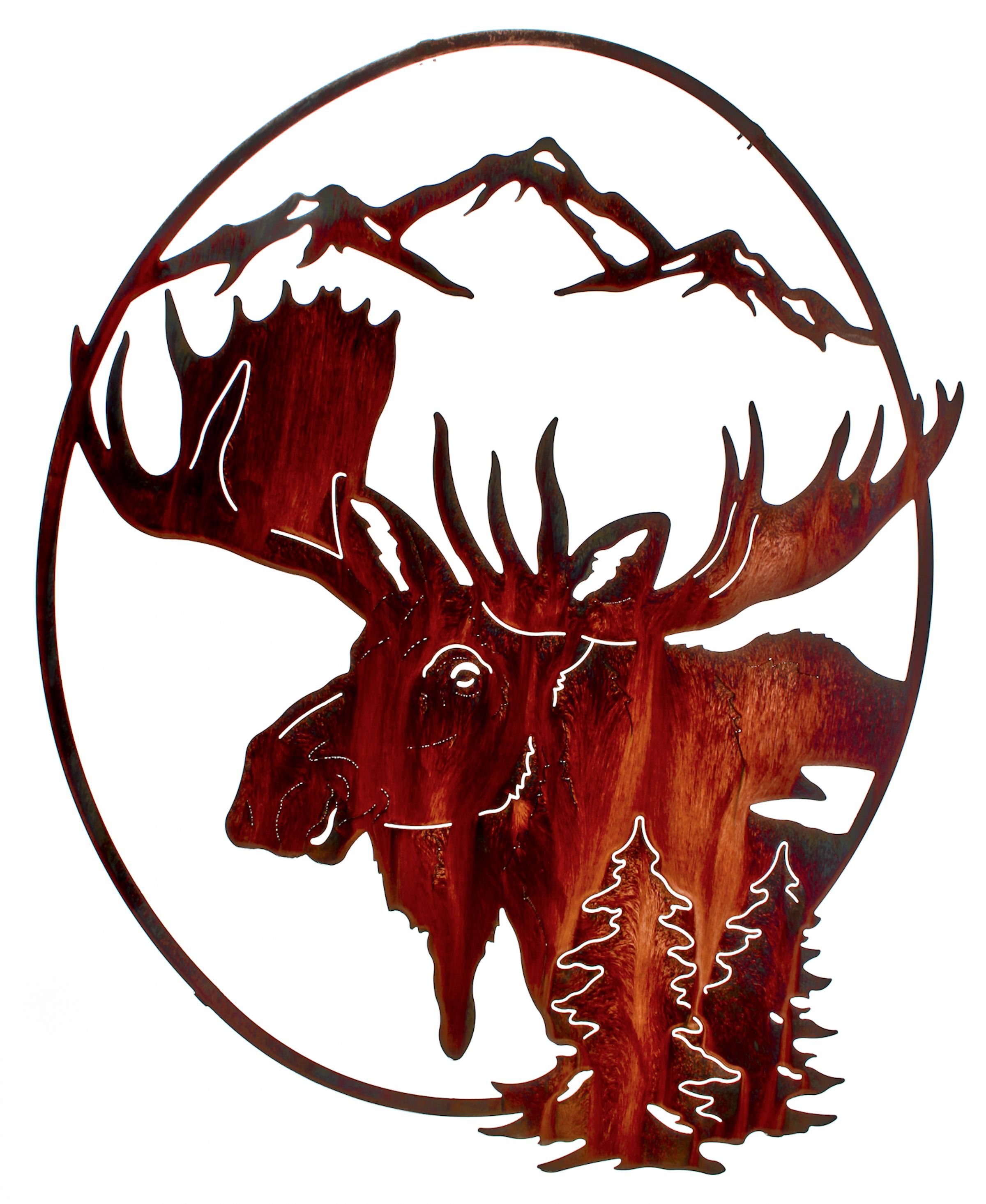 Moose Oval Wall Art www.rusticeditions.com | Wild Animals ...