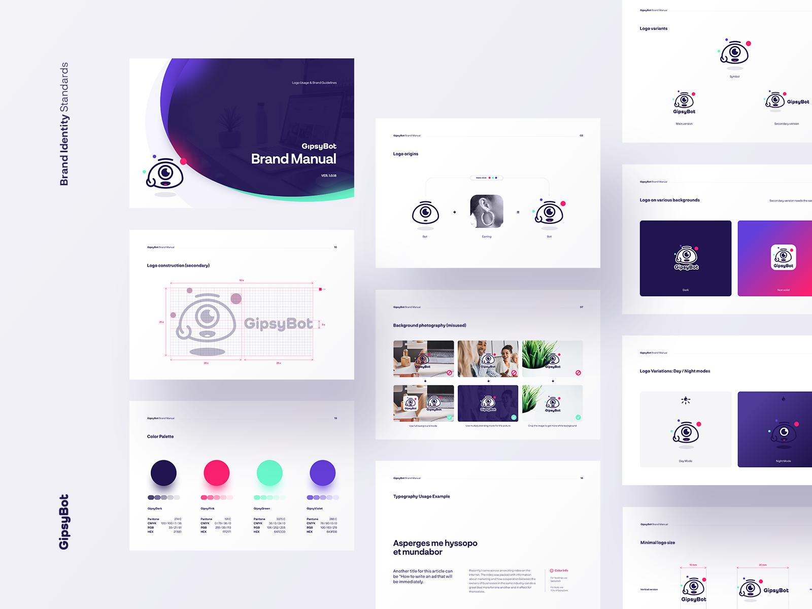 Gipsygipsy Brand Manual Interactive Design Website Design Layout