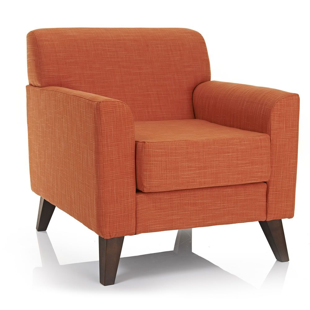 Wilko Wentworth Armchair Burnt Orange