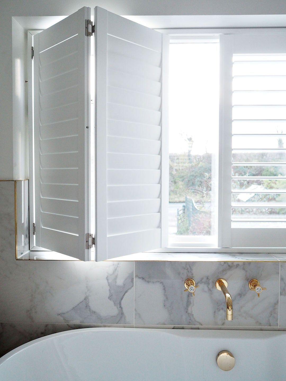 white gold wallmount faucet fixtures shutters