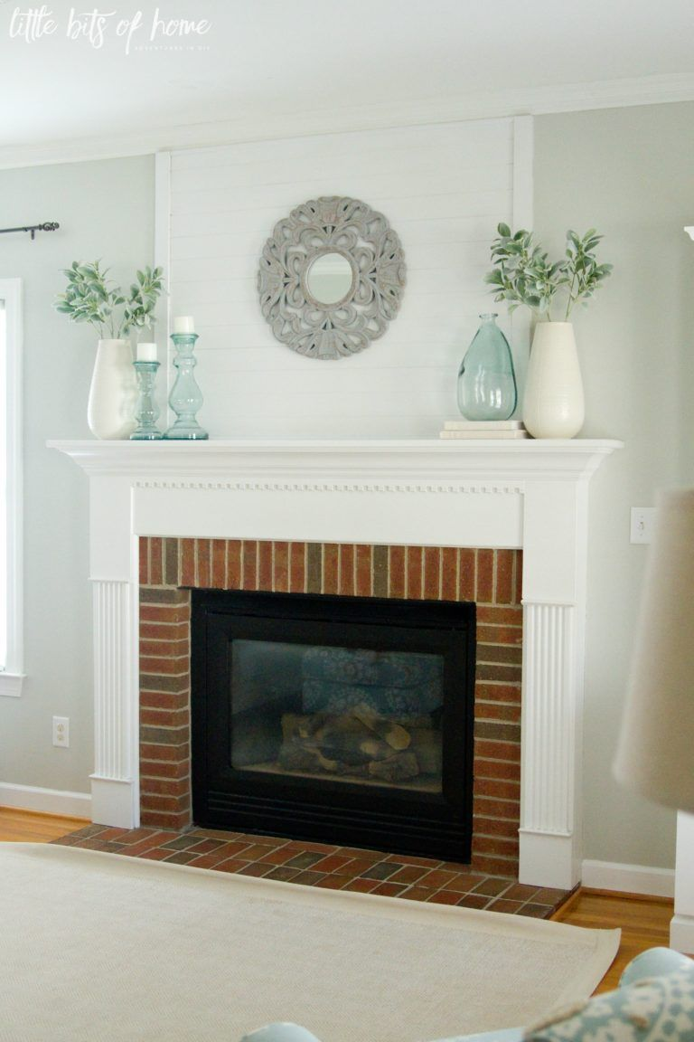 Fresh And Simple Fireplace Mantel Decor Turquoise Living Room