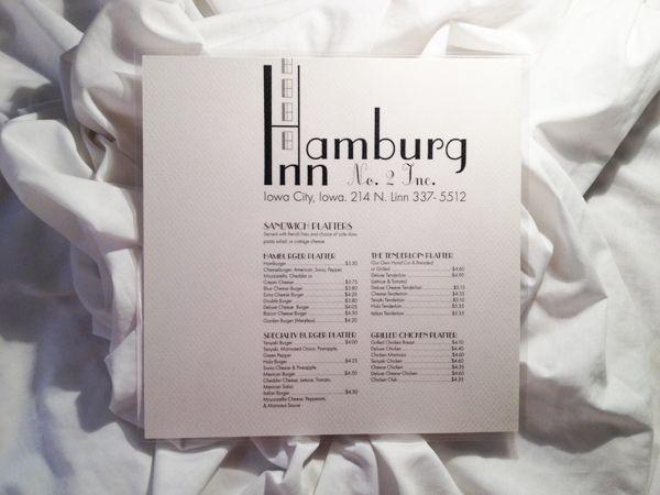 Hamburg Inn - typography