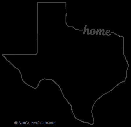 Texas Map Outline Printable State Shape Stencil Pattern Texas Outline Map Outline Texas Map