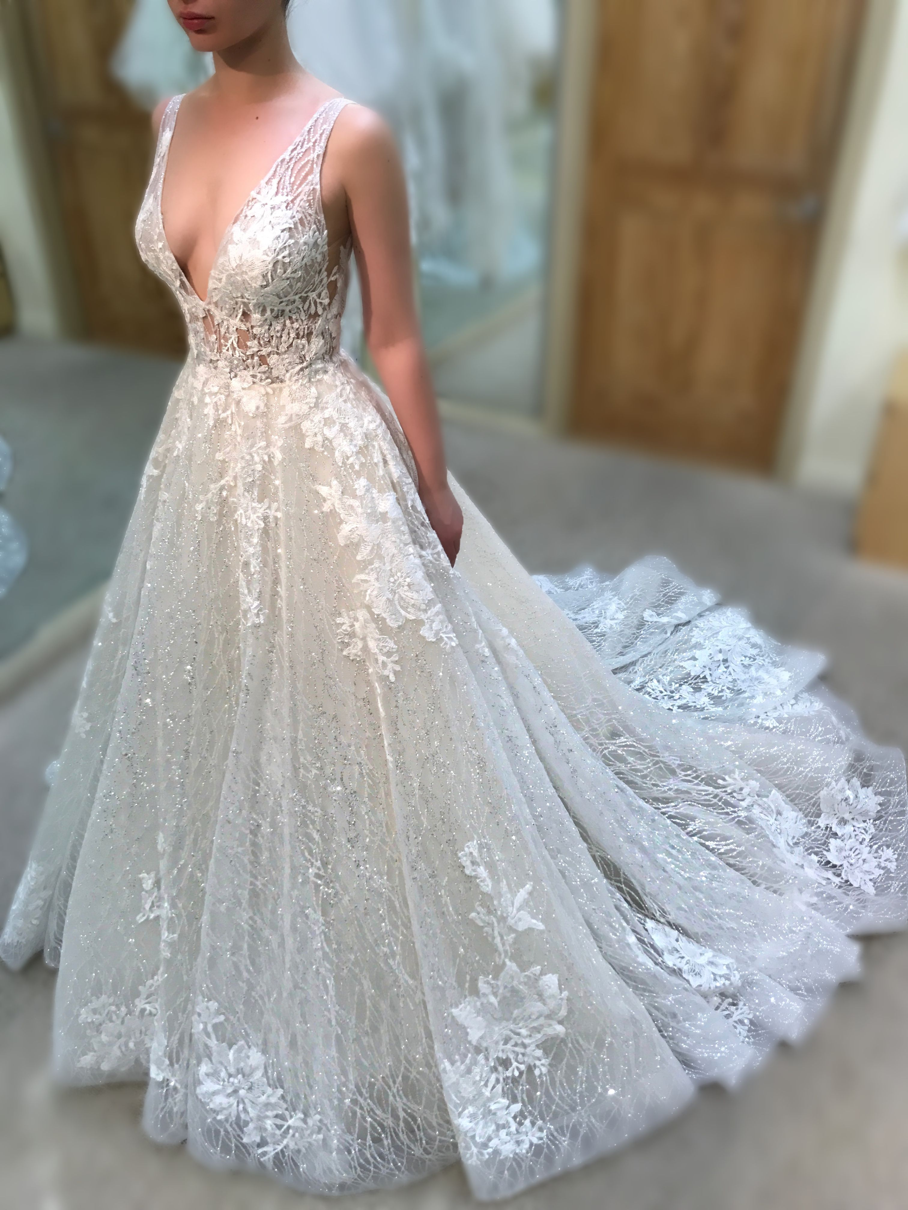 Nile By Enzoani Available At The Bridal Studio In Salt Lake City Utah Nile Is A Sparkly Weddin Enzoani Wedding Dresses Sparkle Wedding Dress Long Bridal Gown