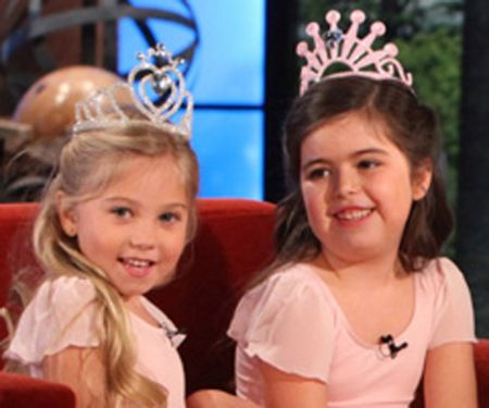Rosie and Sophia Grace--I am obsessed with them.  Rosie is a DOLL and Sophia Grace is a ball of energy!