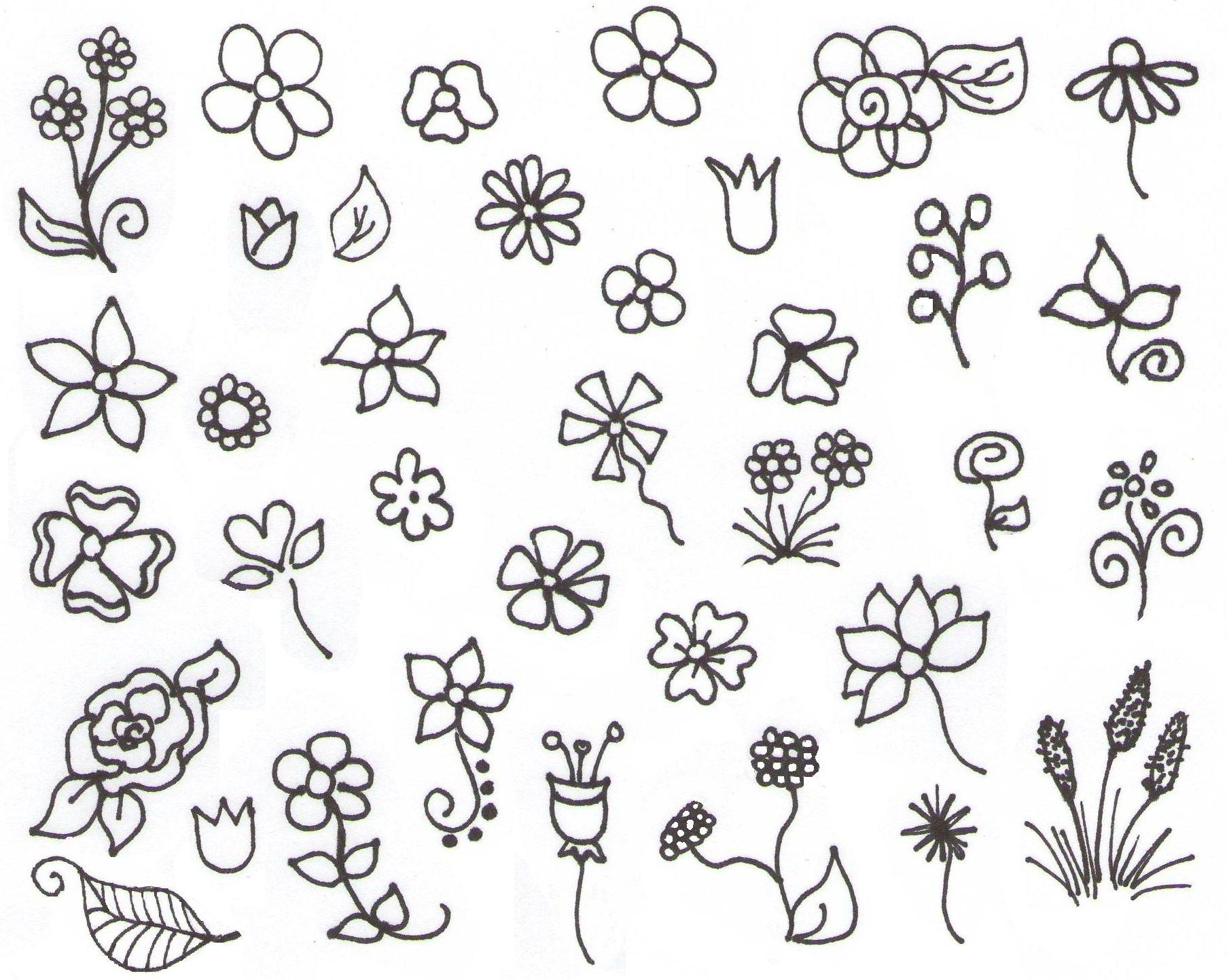 My Inspiration — Flower Doodles! … Simple flower drawing
