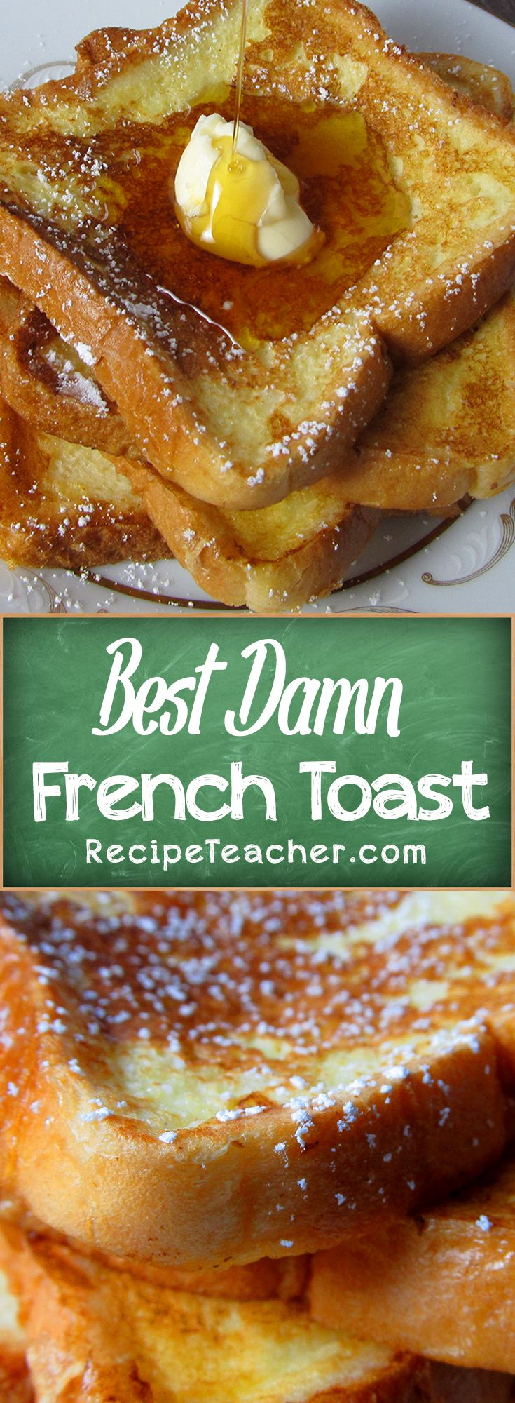 Easy recipe for country style French Toast. The perfect easy recipe for the weekend! #easyrecipes
