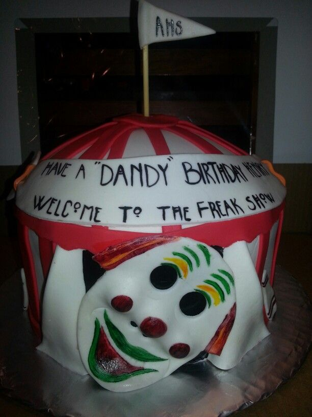 American Horror Story Dandy Cake With Images 21st Birthday