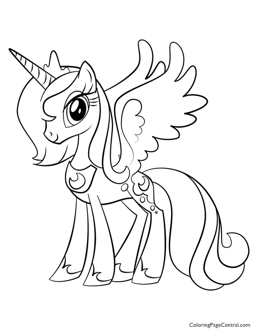 Princess Luna My Little Pony Coloring Page Unicorn Coloring