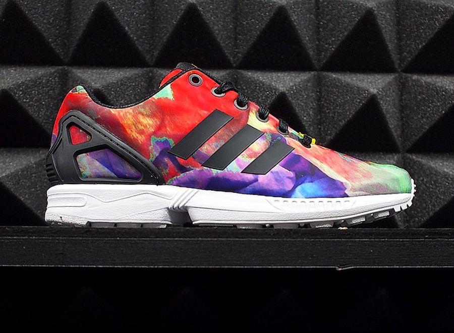 adidas zx flux floral rainbow adidas ZX Flux in Multi Color, Graphic, and  More