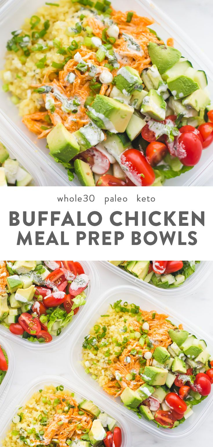 Buffalo Chicken Whole30 Meal Prep (Whole30 Meal Prep)