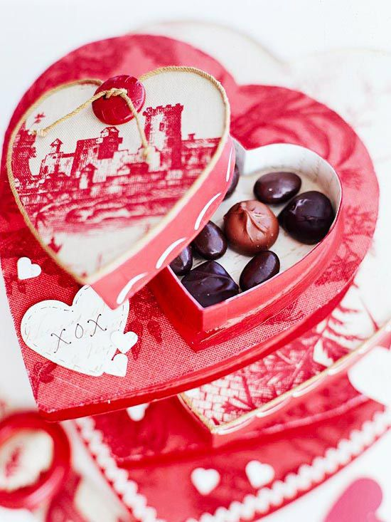 Homemade Valentine\'s Day Gift Ideas | Box, Heart shaped candy and ...