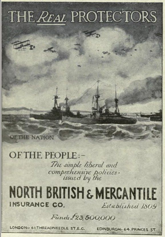 Insurance Company Poster During Ww1
