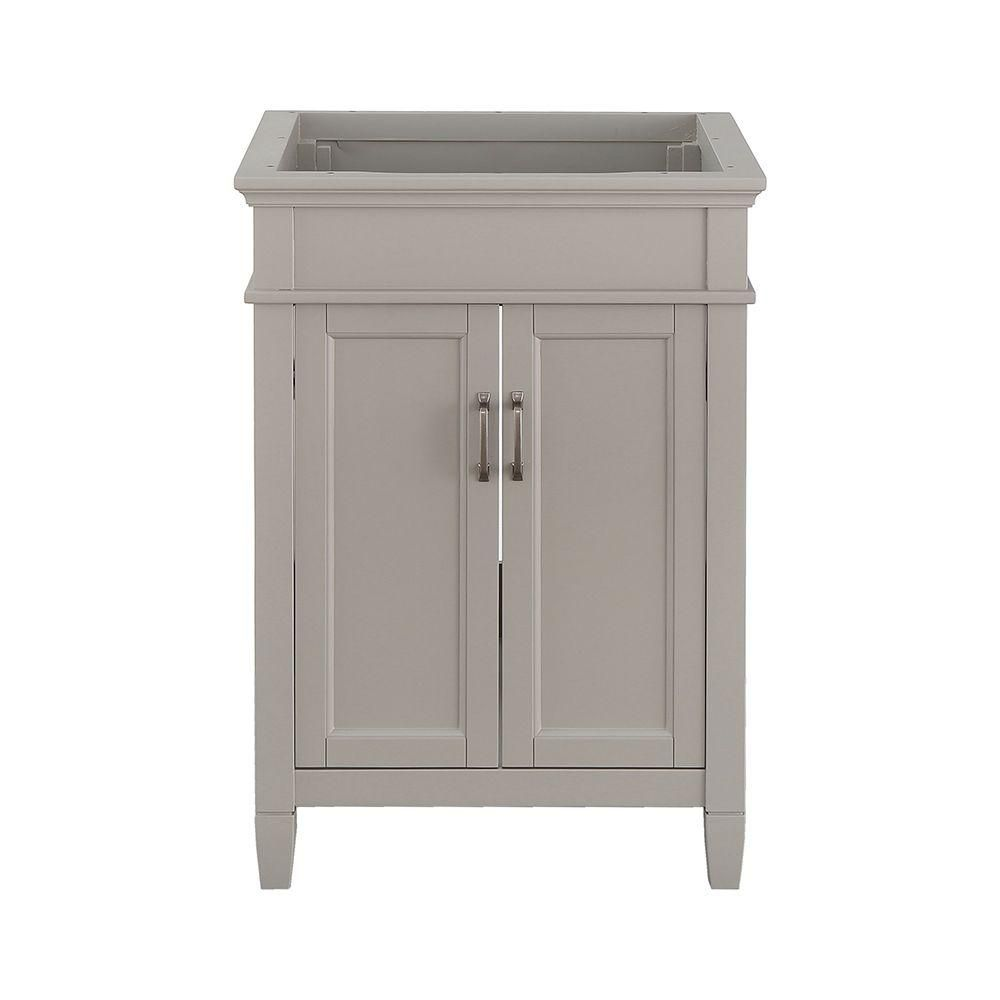 Foremost Ashburn 24 In W X 21 63 D Vanity Cabinet Grey Asgra2421 The Home Depot