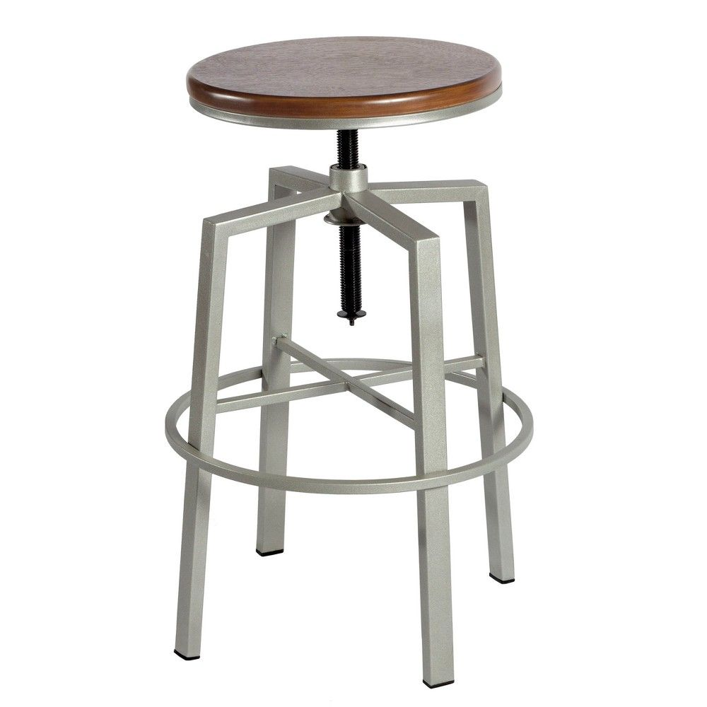 Stupendous Dorian Backless Adjustable Height Barstool Silver Steve Machost Co Dining Chair Design Ideas Machostcouk