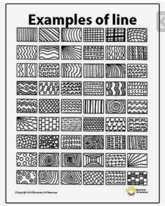 Zentangle Lines Line Art Lesson Elements Of Art Line Art