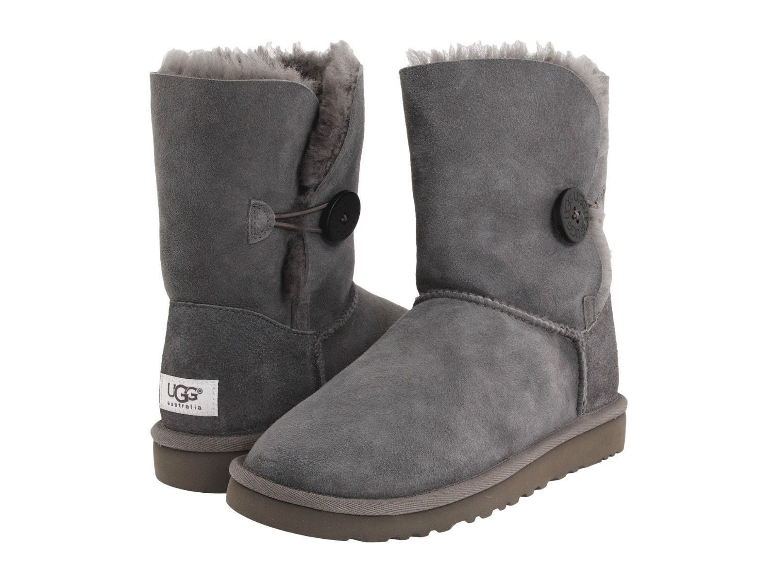a1ef48450d9 Details about Ugg Australia Classic Bailey Button Gray Grey 5803 ...