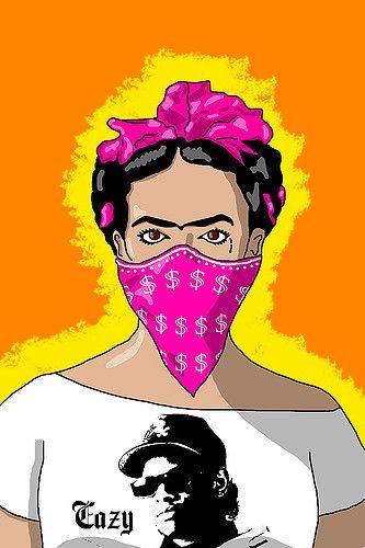Ghetto Frida Back In The Mix Pop Art Art Hip Hop Art